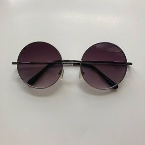 Purple Circle Lens Sunglasses